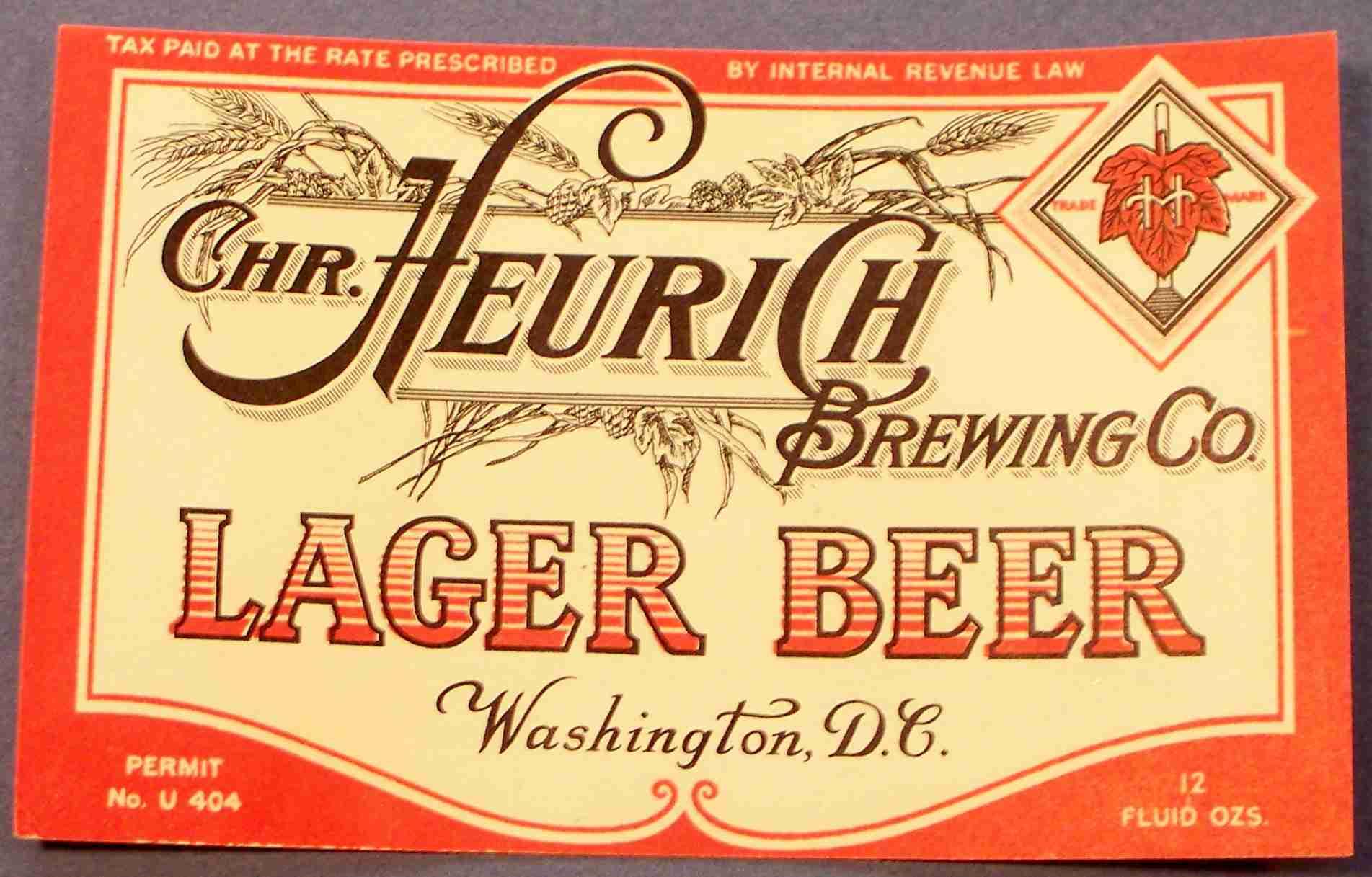 Washington dc bottle labels for Classic house labels